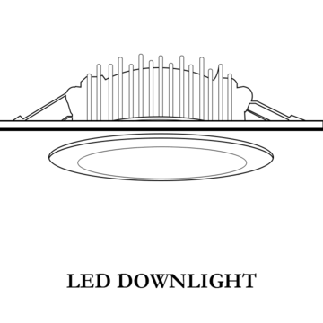 LED Downlights, which appearing every corner of your life.