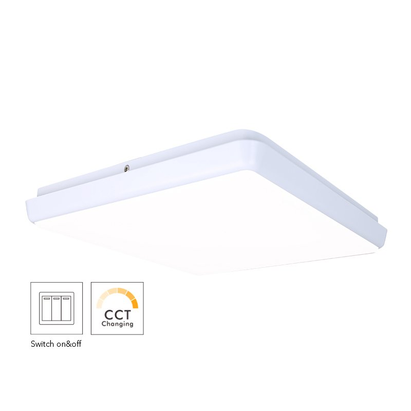 250mm Square Dimmable LED Ceiling Lamp