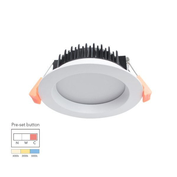 Tri-Color Temperature Aluminum 13W Dimmable LED Downlight