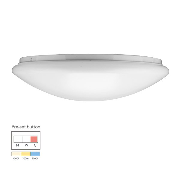 24W Economic tri-color pre-setting LED Ceiling Lamp