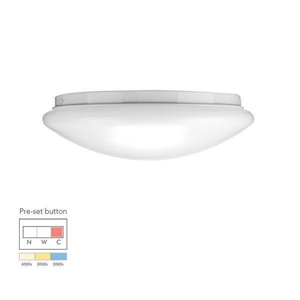 12W Economic tri-color pre-setting LED Ceiling Lamp