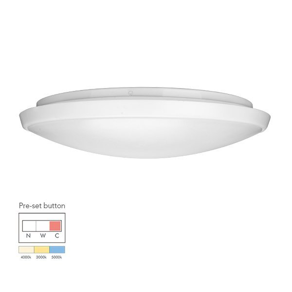 24W Economic tri-color pre-setting LED Ceiling Light