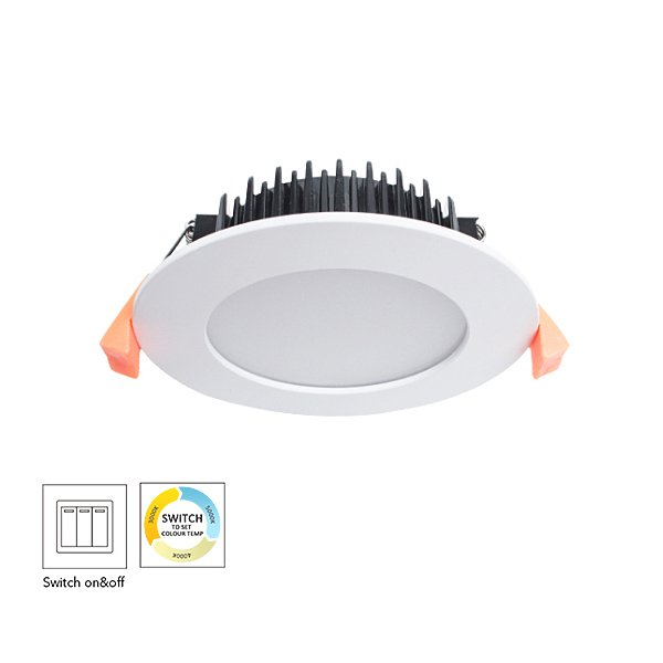 Switch CCT Changeable Residential 9W Dimmable LED Downlight