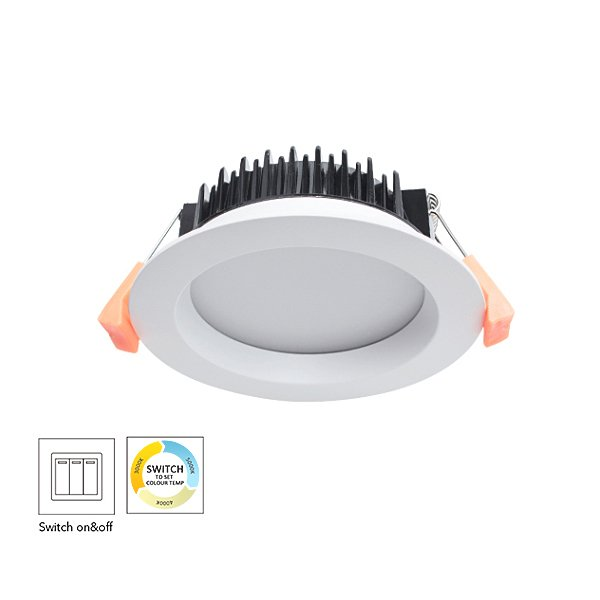 CCT Changeable By Switch Aluminum 13W Dimmable LED Downlight